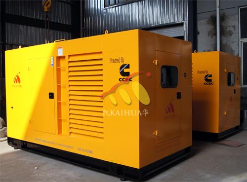 出口非洲2台400KW康明斯防雨罩型发电机组
