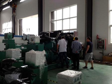 哈萨克斯坦客户订购柴油发电机组