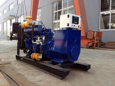 50KW沼气发电机组安排出厂