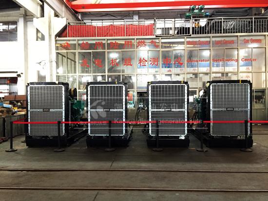 4台500KW沃尔沃柴油发电机并机测试
