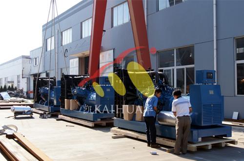 3台800KW奔驰MTU柴油发电机组商检包装