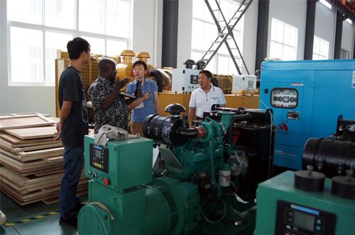 加纳客户来访我工厂